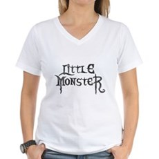 Little Monster Womens V-Neck T-Shirt
