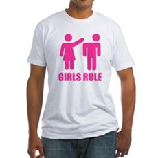 Girls Rule Fitted T-Shirt
