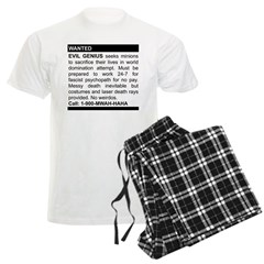 Evil Genius Personal Ad Men's Light Pajamas