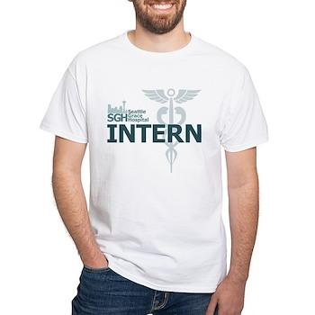 Seattle Grace Hospital Intern White T-Shirt