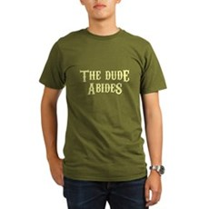 The Dude Abides Organic Mens Dark T-Shirt