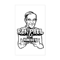 Ron Paul Is My Homeboy Sticker (Rectangle)