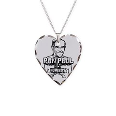 Ron Paul Is My Homeboy Necklace Heart Charm