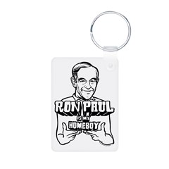 Ron Paul Is My Homeboy Aluminum Photo Keychain