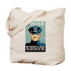 Police Protect & Serve Tote Bag