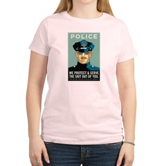 Police Protect & Serve Women's Light T-Shirt