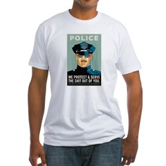 Police Protect & Serve Fitted T-Shirt
