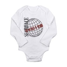 The World Is Yours Long Sleeve Infant Bodysuit