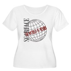 The World Is Yours Womens Plus Size Scoop Neck T-