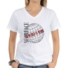 The World Is Yours Womens V-Neck T-Shirt