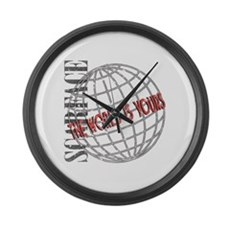 The World Is Yours Large Wall Clock