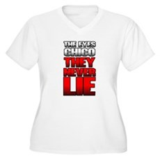 The Eyes Never Lie Womens Plus Size V-Neck T-Shir