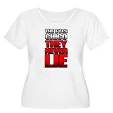 The Eyes Never Lie Womens Plus Size Scoop Neck T-