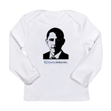 America Dislikes Obama Long Sleeve Infant T-Shirt
