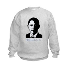 America Dislikes Obama Kids Sweatshirt