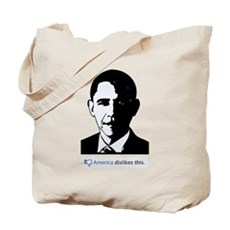 America Dislikes Obama Tote Bag