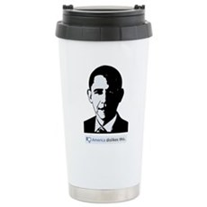 America Dislikes Obama Stainless Steel Travel Mug