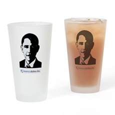 America Dislikes Obama Drinking Glass
