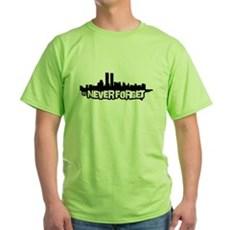 Never Forget 9/11 Green T-Shirt