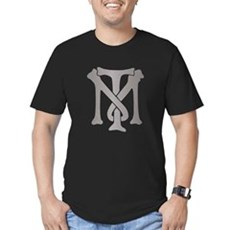 Tony Montana Silver Monogram Mens Fitted T-Shirt