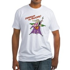 Supercow al Rescate Fitted T-Shirt