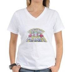 Vintage Captain Planet Womens V-Neck T-Shirt