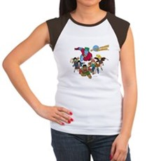 Captain Planet Powers Womens Cap Sleeve T-Shirt