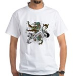 Anderson Tartan Lion White T-Shirt - Scottish lion rampant with the Anderson clan tartan and a banner with the family name. - Availble Sizes:Small,Medium,Large,X-Large,X-Large Tall (+$3.00),2X-Large (+$3.00),2X-Large Tall (+$3.00),3X-Large (+$3.00),3X-Large Tall (+$3.00),4X-Large (+$3.00) - Availble Colors: White