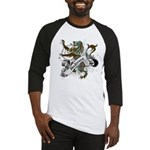Anderson Tartan Lion Baseball Jersey - Scottish lion rampant with the Anderson clan tartan and a banner with the family name. - Availble Sizes:Small,Medium,Large,X-Large,2X-Large (+$3.00) - Availble Colors: Black/White,Red/White,Blue/White