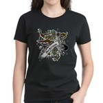 Anderson Tartan Lion Women's Dark T-Shirt - Scottish lion rampant with the Anderson clan tartan and a banner with the family name. - Availble Sizes:Small,Medium,Large,X-Large,2X-Large (+$3.00) - Availble Colors: Black,Red,Caribbean Blue,Pink,Charcoal Heather,Kelly,Pink Camo,Navy