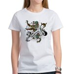 Anderson Tartan Lion Women's T-Shirt - Scottish lion rampant with the Anderson clan tartan and a banner with the family name. - Availble Sizes:Small,Medium,Large,X-Large,2X-Large (+$3.00) - Availble Colors: White