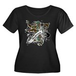 Anderson Tartan Lion Women's Plus Size Scoop Neck - Scottish lion rampant with the Anderson clan tartan and a banner with the family name. - Availble Sizes:1 (16/18),2 (20/22),3 (24/26),4 (28/30),5 (32/34) - Availble Colors: Black,Navy