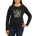 Anderson Tartan Lion Women's Long Sleeve Dark T-Sh - Scottish lion rampant with the Anderson clan tartan and a banner with the family name. - Availble Sizes:Small,Medium,Large,X-Large,2X-Large (+$3.00) - Availble Colors: Black