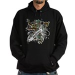 Anderson Tartan Lion Hoodie (dark) - Scottish lion rampant with the Anderson clan tartan and a banner with the family name. - Availble Sizes:Small,Medium,Large,X-Large,2X-Large (+$3.00),3X-Large (+$3.00) - Availble Colors: Black,Navy