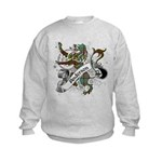 Anderson Tartan Lion Kids Sweatshirt - Scottish lion rampant with the Anderson clan tartan and a banner with the family name. - Availble Sizes:S (6-8),M (10-12),L (14-16) - Availble Colors: Ash Grey