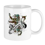 Anderson Tartan Lion Mug - Scottish lion rampant with the Anderson clan tartan and a banner with the family name. - Availble Sizes:Small,Mega (+$5.00) - Availble Colors: White,Black Color Changing