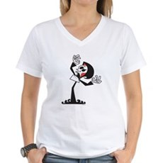 Grim Reaper Womens V-Neck T-Shirt