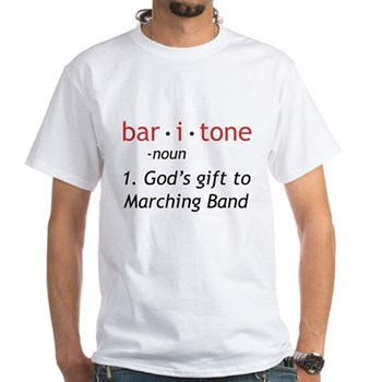 Definition of a Baritone White T-Shirt