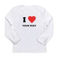 Custom I Heart Long Sleeve Infant T-Shirt