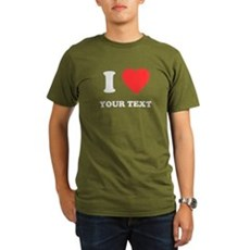 Custom I Heart Organic Mens Dark T-Shirt
