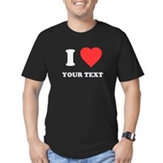 Custom I Heart Mens Fitted Dark T-Shirt