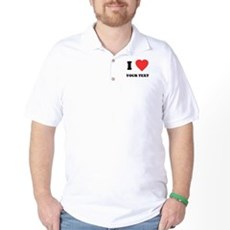 Custom I Heart Golf Shirt