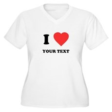 Custom I Heart Plus Size V-Neck Shirt