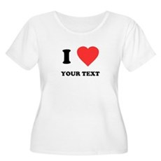 Custom I Heart Womens Plus Size Scoop Neck T-Shir