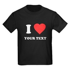 Custom I Heart Kids T-Shirt