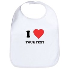 Custom I Heart Bib
