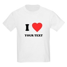 Custom I Heart Kids Light T-Shirt