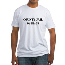 County Jail Costume Fitted T-Shirt