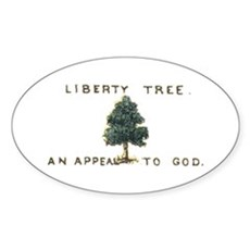 Liberty Tree Oval Sticker