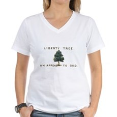 Liberty Tree Womens V-Neck T-Shirt